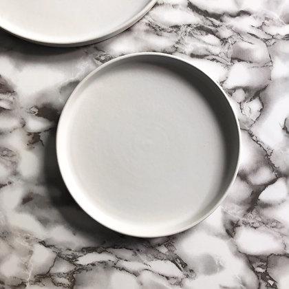 stoneware matte white - side plate