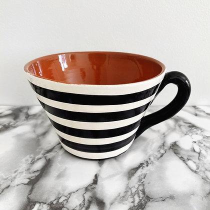 large tapered mug - horizontal stripe