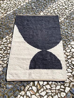 hills geo art rug