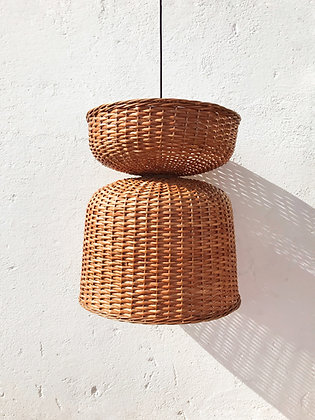 pendant cane lampshade - bell