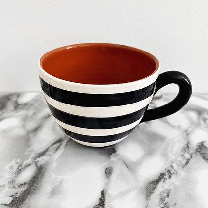 rounded mug - horizontal stripe