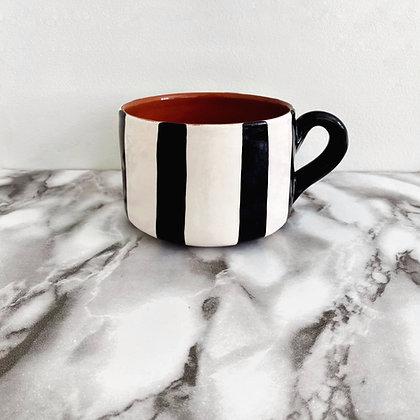 flat mug - vertical stripe