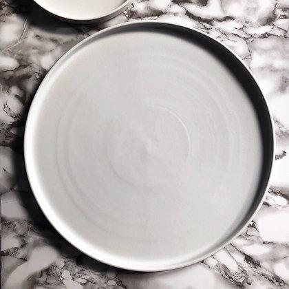 stoneware matte white - large platter/tray