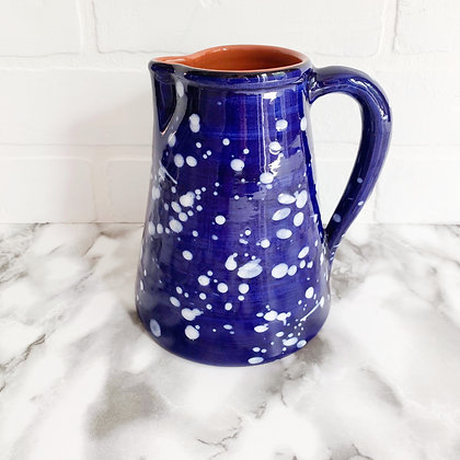 blue salpico jug - white dots