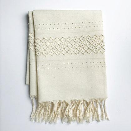 linen towel - cream