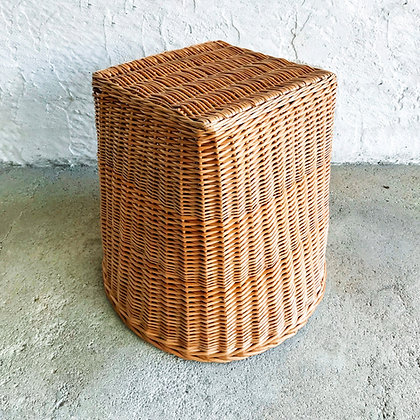 cane stool - rectangular
