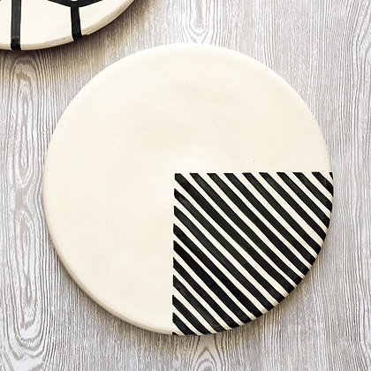 graphic platter - 1/4 stripe