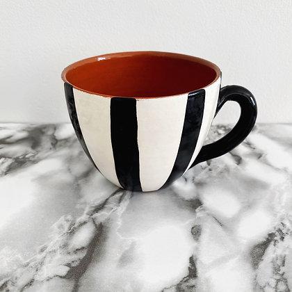 rounded mug - vertical stripe