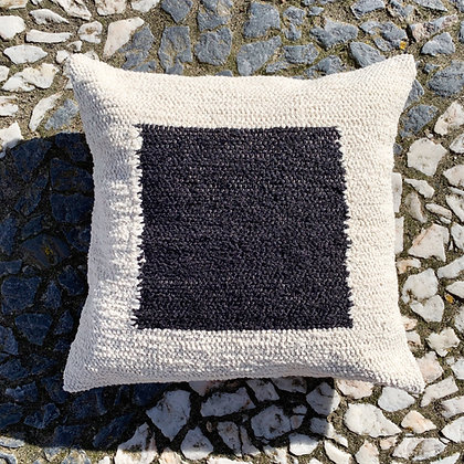square geo art cushion