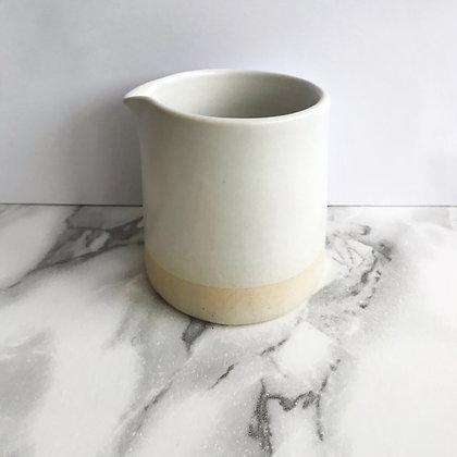 stoneware matte white - creamer
