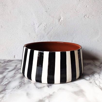 bold stripe bowls - tapered