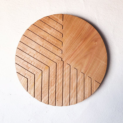 carved wood plaque - thirds