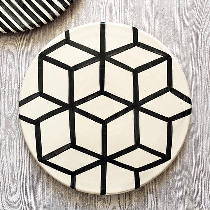 graphic platter - cubes