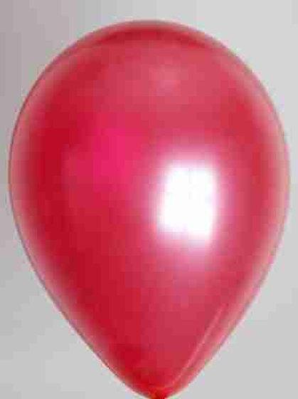 Ballon 30 cm metallic fuchsia prijs per 25 stuks