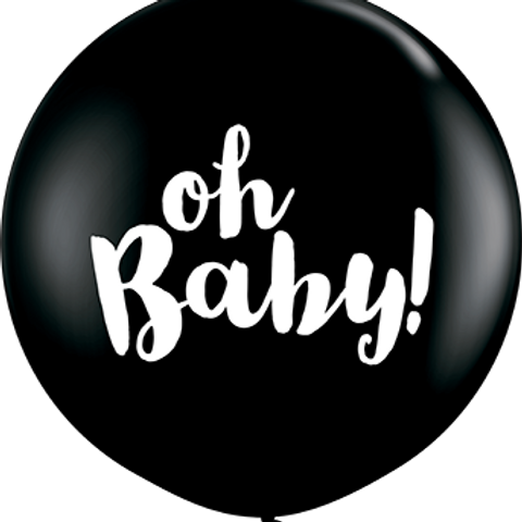 Oh Baby! Fashion Onyx Black Latex Round 90cm per stuk