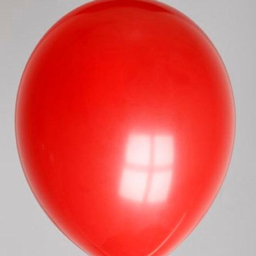 Ballon 30 cm dieprood per 10 stuks