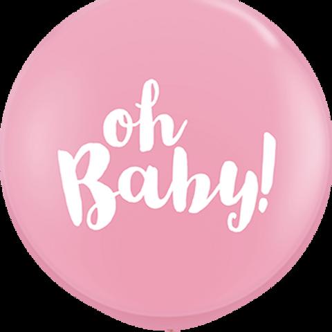 Oh Baby! Standard Pink Latex Round 90cm per stuk