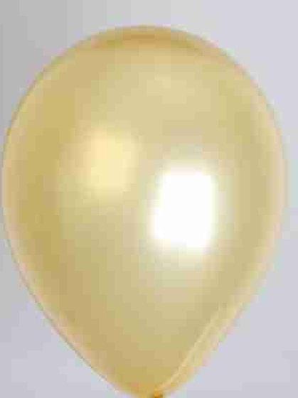 Ballon 30 cm metallic goud per 100 stuks