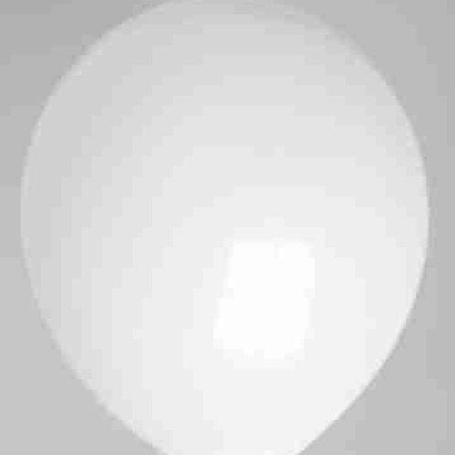 Ballon 30 cm kristal wit prijs per 100 stuks