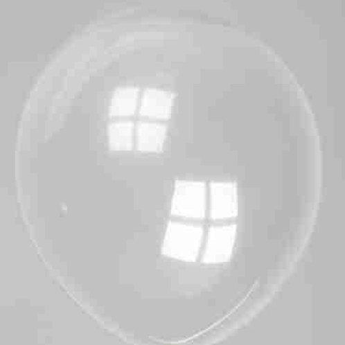 Ballon 30 cm kristal transparant prijs per 10 stuks