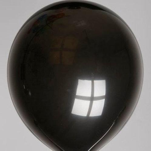 Ballon 30 cm zwart per 100 stuks
