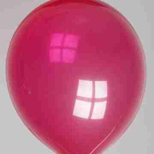 Ballon 30 cm kristal donkerviolet per 10 stuks