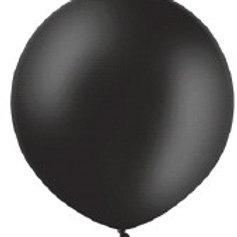 Ballon 90cm metallic zwart per stuk