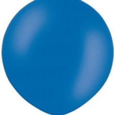 Ballon 90 cm metallic blauw