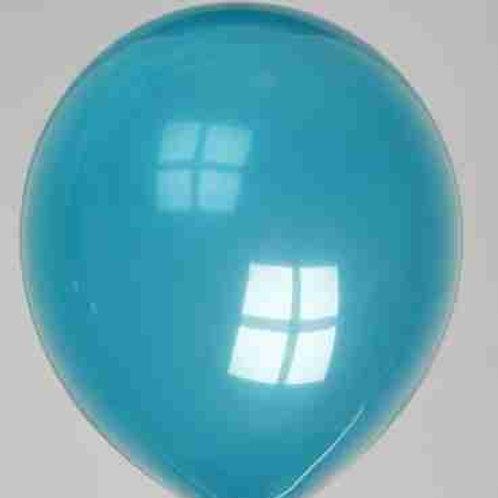Ballon 30 cm kristal waterblauw prijs per 50 stuks