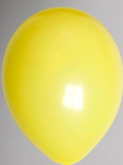 Ballon 30 cm donkergeel per 10 stuks