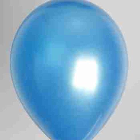 Ballon 30 cm metallic blauw per 50 stuks