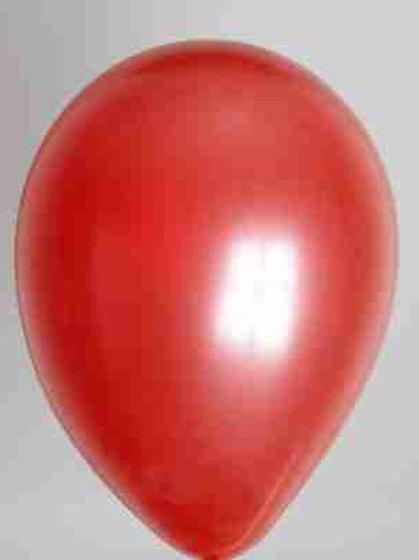 Ballon 30 cm metallic rood prijs per 100 stuks