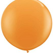 Ballon 90 cm metallic oranje per stuk