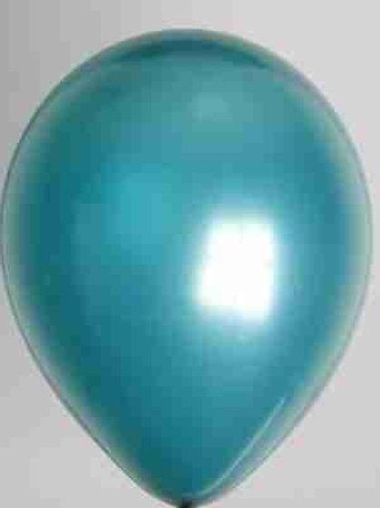 Ballon 30 cm metallic zeegroen prijs per 50 stuks
