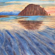 """Sunset at Morro Rock"""