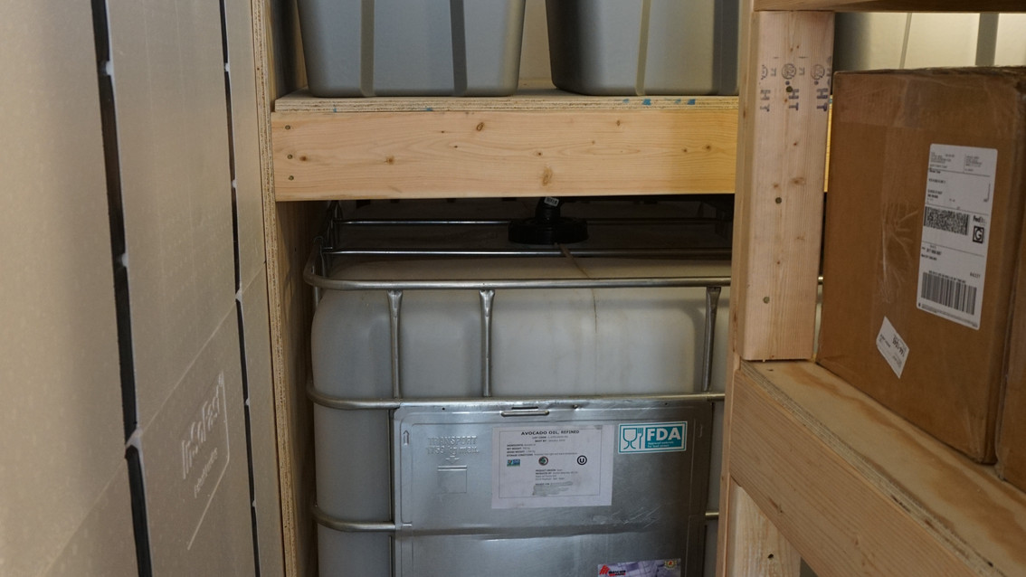 Emergency Food Supply Bunker Back