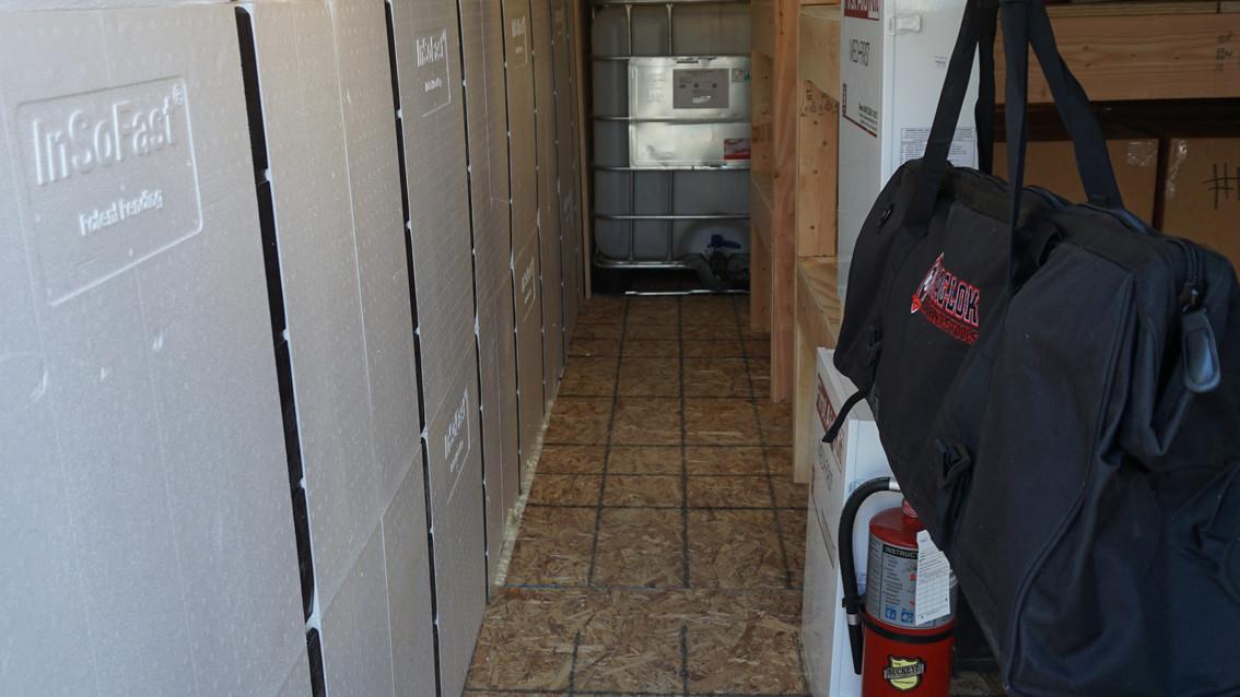 Emergency Food Supply Bunker Interior