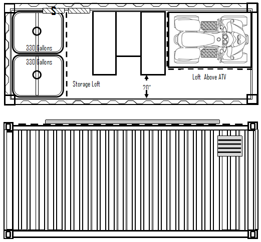 Emergency Food Supply Bunker Floor Plan