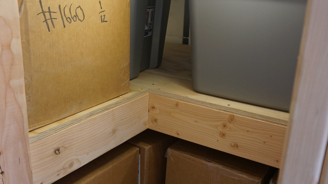 Emergency Food Supply Bunker Shelves
