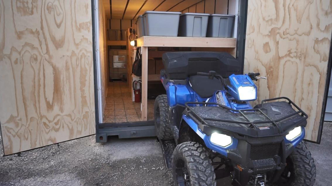 Emergency Food Supply Bunker ATV
