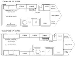 Toy Hauler Floor Plans