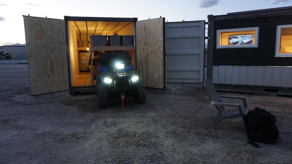 Emergency Food Supply Bunker Exterior