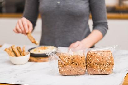 Receta elaboración hummus con cristallino Ciabatta Kornspitz para recetas saludables y naturales