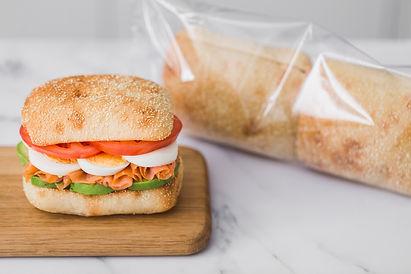 Receta con salmón ahumado y pan Cristallino Ciabatta