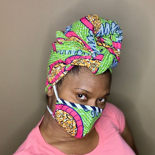 Headwrap and mask combo