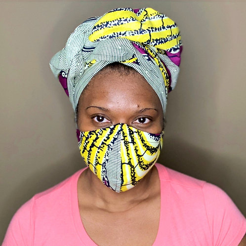 Head wrap and face mask set