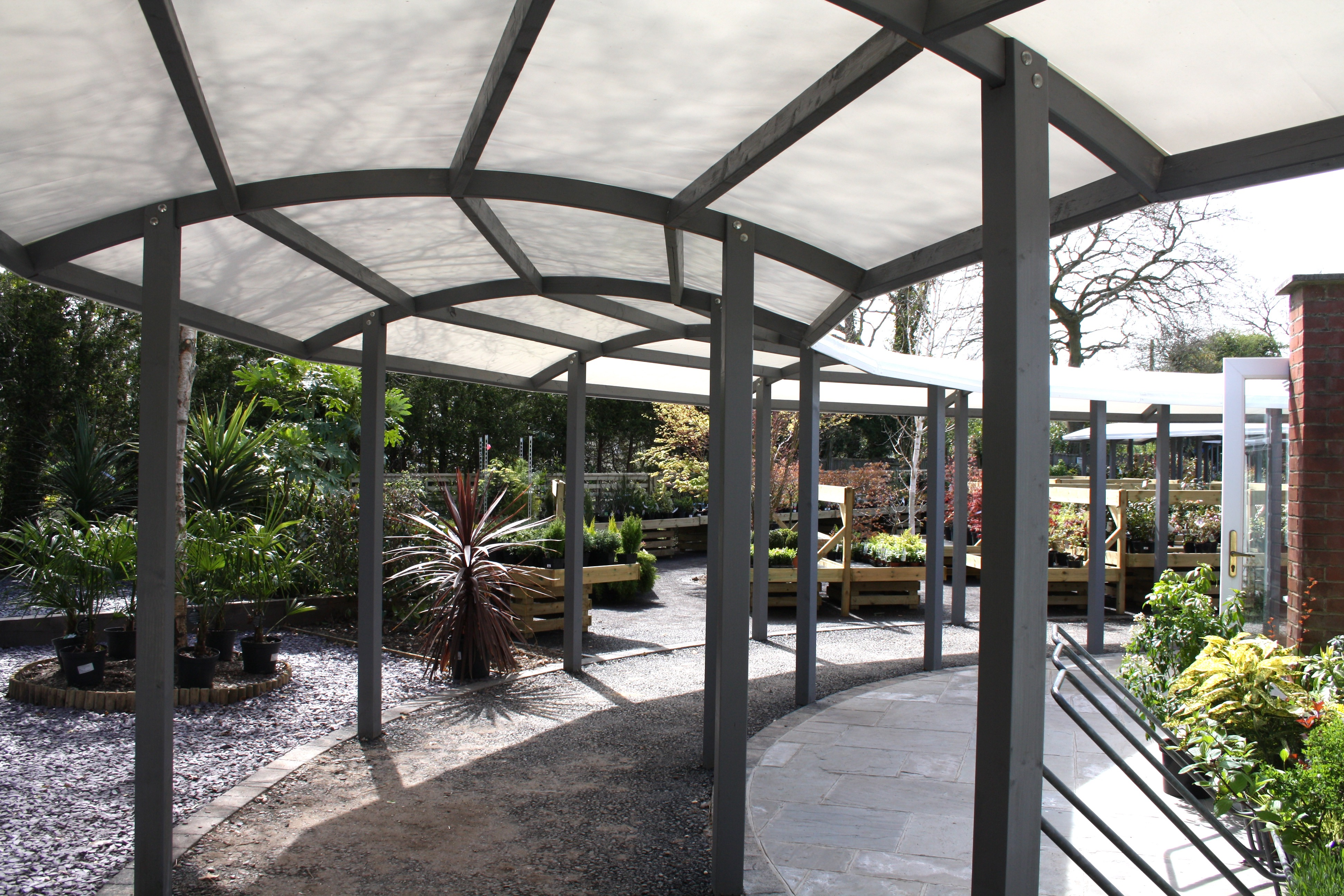 Hambrooks Covered Walkway Canopy