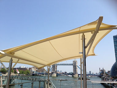 HMS Belfast Upper Deck Bar Tensile Sail Awning