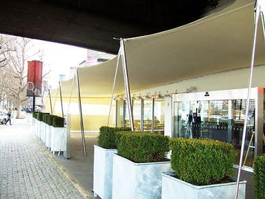 Benugo Waterloo Restaurant Terrace Tensioned Sail Canopy