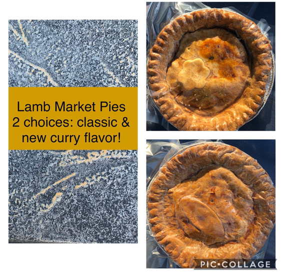 Lamb Pies Curry or Classic